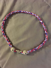 "NEW ENGLAND PATRIOTS Blue 22"" Titanium Double Rope NECKLACE NEW! FAST! FREE SHIP"