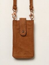 NWT Free People Distressed Leather Travel Cross Body Small FESTIVAL Purse Pouch