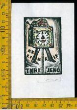 Ex Libris Originale Karoly Andrusko Jugoslavia  b 352 Turi Jeno