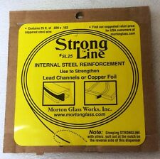 Morton Strongline Reinforcement for Stained Glass Strong Line is Coppered Steel