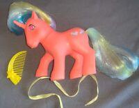 Vintage 1985 My Little Pony Speedy Twinkle Eye Hasbro Comb Ribbon Unicorn TE MLP