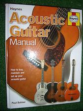 The Haynes ACOUSTIC GUITAR Manual BUY MAINTAIN REPAIR TUNE SET-UP BOOK GUIDE NEW