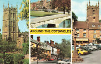 """Rare Vintage Scenic Postcard """"Around The Cotswolds""""  England Unposted."""