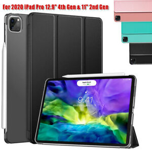 """For Apple iPad Pro 11"""" 12.9"""" 2020 4th Generation Leather Stand SMART CASE Cover"""