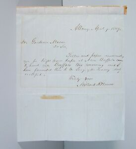 1849 PRESIDENT MILLARD FILLMORE AUTOGRAPH LETTER SIGNED U. S. LIGHTHOUSE SERVICE
