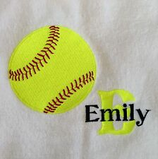 Personalized Monogrammed Baseball Softball Golf Cheer Gymnastics Hand Towel