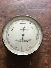 Antique c.1880 James W. Queen & Co Pocket BAROMETER