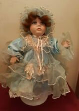 "Rustie World Gallery Powder Puff Girl Porcelain Doll 24"" Red Hair 471/5000 ✞"