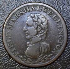 1814 FIELD MARSHALL WELLINGTON HALFPENNY TOKEN  - COPPER - BR971 WE-2A