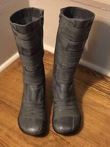 Miz Mooz Orso mid calf boots gray sz 40