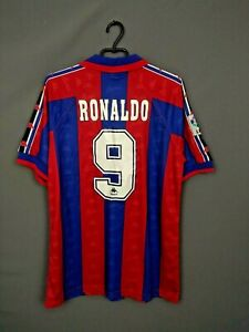 Ronaldo Barcelona Jersey 1995 1997 Home LARGE Shirt Replica Camiseta Kappa ig93