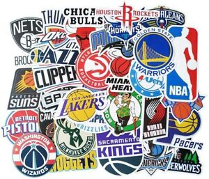 NBA Team Logo Stickers - All Teams Available including some Classic Logos
