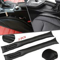 2 Pcs Black PU Leather Seat Leakproof Gap Pad Filler Gap Filler Holster Car SUV