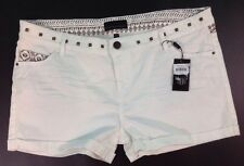 NEW BLACK HEARTS BRIGADE Off White Jean Shorts Size 12 / 32W Large Aztec Pants