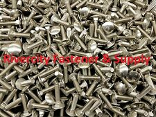 (100) M6-1.0x25mm or M6x25 mm Stainless Carriage Bolts / Screws  6mm x 25mm