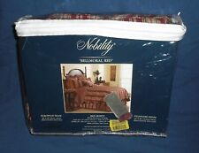 Nobility Twin Bed Skirt ~ Bellmoral Red ~ Dillard's Bedding 100% Cotton Cover