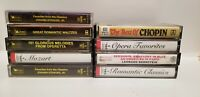 9 Classical Music Audio Cassette Lot  - In Very Good Condition!