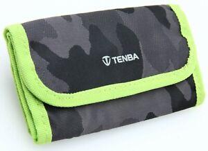 Tenba Reload SD 9 Card Wallet  (Black Camo/Lime) 636-218 389036