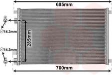 Kondensator, Klimaanlage für Klimaanlage VAN WEZEL 43005305