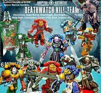 6=DEATHWATCH Kill-Team+CUSTOM CAPTAIN SPACE MARINES~Games Workshop WARHAMMER 40K