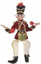 "RAZ Imports 14"" Posable Elf Plaid Tidings Little Drummer Boy"