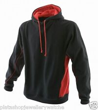 Finden Hales Unisex Black Performance Sports Hoodie with Red LV335 Size L