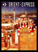 Orient Express Instanbul Rail A3 vintage retro travel & railways posters print#3