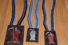 #1 SET SANTA MUERTE 3 items ESCAPULARIOS scapulary blue proteccion RITUALIZADOS