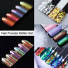 Nail Art Glitter Powder Dust for UV Gel Acrylic Sequins Flakes Decoration Tips