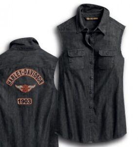 Harley Davidson Ladies Rocker Patch Sleeveless Shirt 96432-20VW