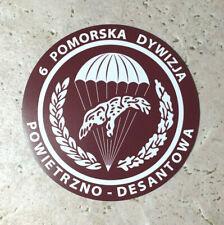 1950s-1980s Polish Paratrooper 10cm Flexible Magnet  6 POMORSKA DYWIZJA Airborne