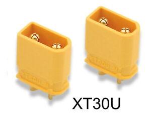 2 x Hochstrom Stecker XT30U Goldkontakt Nylon männlich male