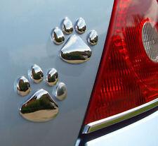 Voiture chien Paw print sticker (paire) 3D Autocollant Decal coupe universelle (vendeur britannique)