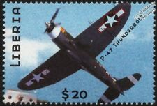 WWII US Navy Republic P-47 THUNDERBOLT Fighter-Bomber Aircraft Stamp