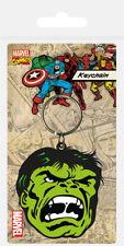 Marvel Comics Hulk (Face) Rubber Keychain Keyring