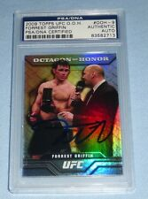 Forrest Griffin Signed UFC 2009 Topps Octagon of Honor Card 9 PSA/DNA COA Auto'd
