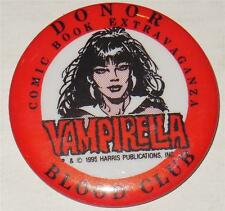 VAMPIRELLA~BLOOD DRIVE EXCLUSIVE DONOR BUTTON~1995~SCARCE~SIGNED GONZALO MAYO