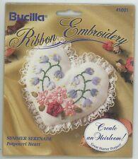 Bucilla Ribbon Embroidery Potpourri Heart Moire Pearls Summer Serenade KIT