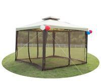 Outdoor Metal Gazebo Garden Patio Soft 2-tier Yard Canopy Party Tent W/ Netting