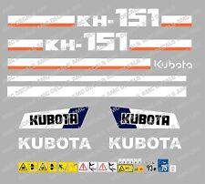 Kubota KH151 Ensemble Complet Autocollant Mini Pelle