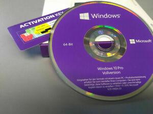 Windows 10 Professional 64Bit DVD Win 10 Pro COA OEM Key versiegelt NEU