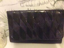 Purple Snake Pattern  clutch bag, Harlequin Design