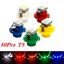 50X T5 B8.4D 5050 1SMD LED Indicator Cluster Gauge Dashboard Dash Side Lights