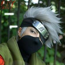 Silver Grey Hatake Kakashi Costume Full Cosplay Straight Anime Wig Short Hair