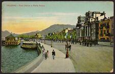 AX1730 Palermo - Foro Italico e Porta Felice - Figurata - Cartolina - Postcard