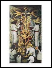 Diego Rivera Corn Festival Poster Kunstdruck mit Alu Rahmen in schwarz 71x56cm