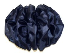Large French Clip Hair Bow Women's Barrette Boutique Homemade Puffy Full Navy