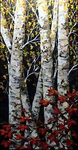"Maya Eventov ""Untitled"" Original Acrylic on Canvas Flowers H.Signed ADL101713-03"