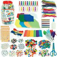 Mega Craft Jar - Arts and Crafts Kit For Kids - Over 1,500 Pieces -