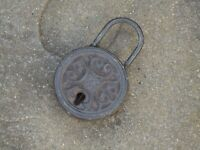 Iron Pad Lock Antique Style Metal Old Looking - Chest Lock - Theatre Film Prop